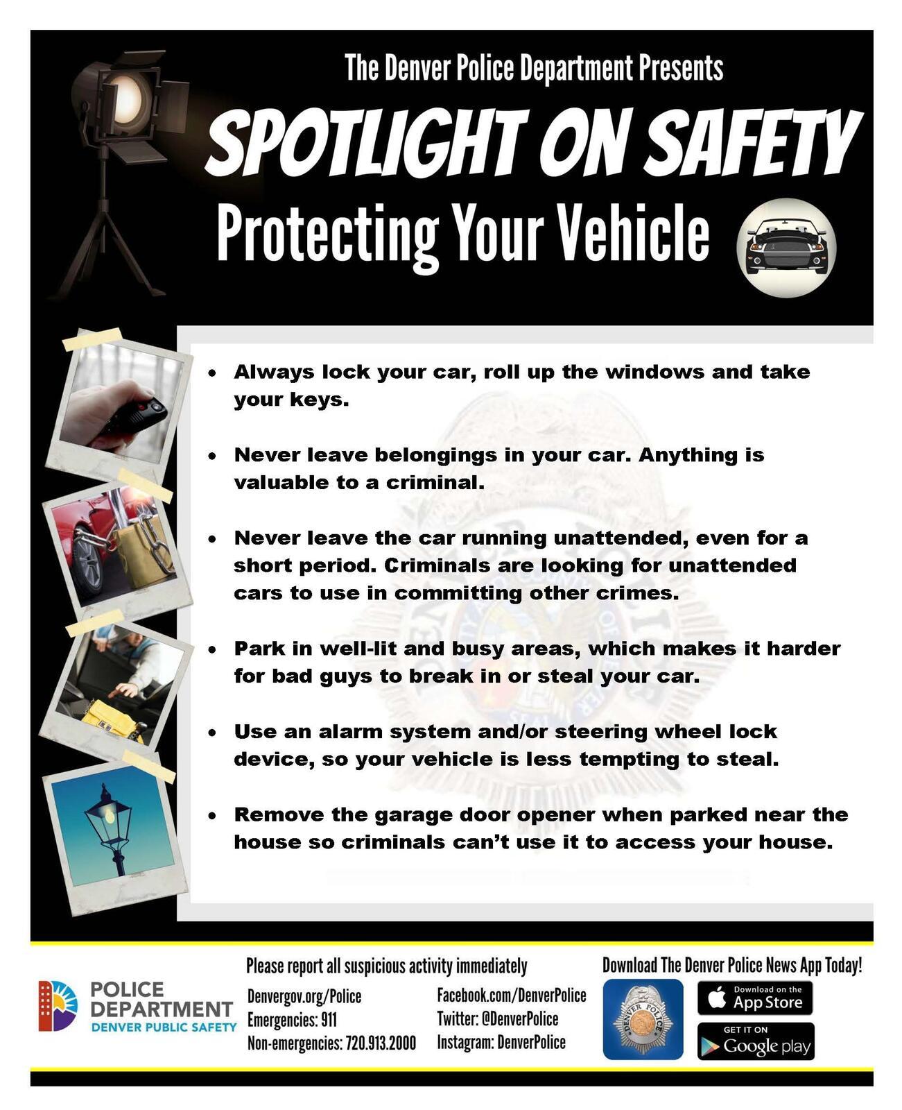 Theft From Motor Vehicle Alert Globeville Denver Police