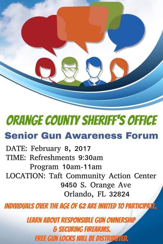 Senior gun safety workshop orange county sheriff 39 s office - Orange county sheriffs office florida ...