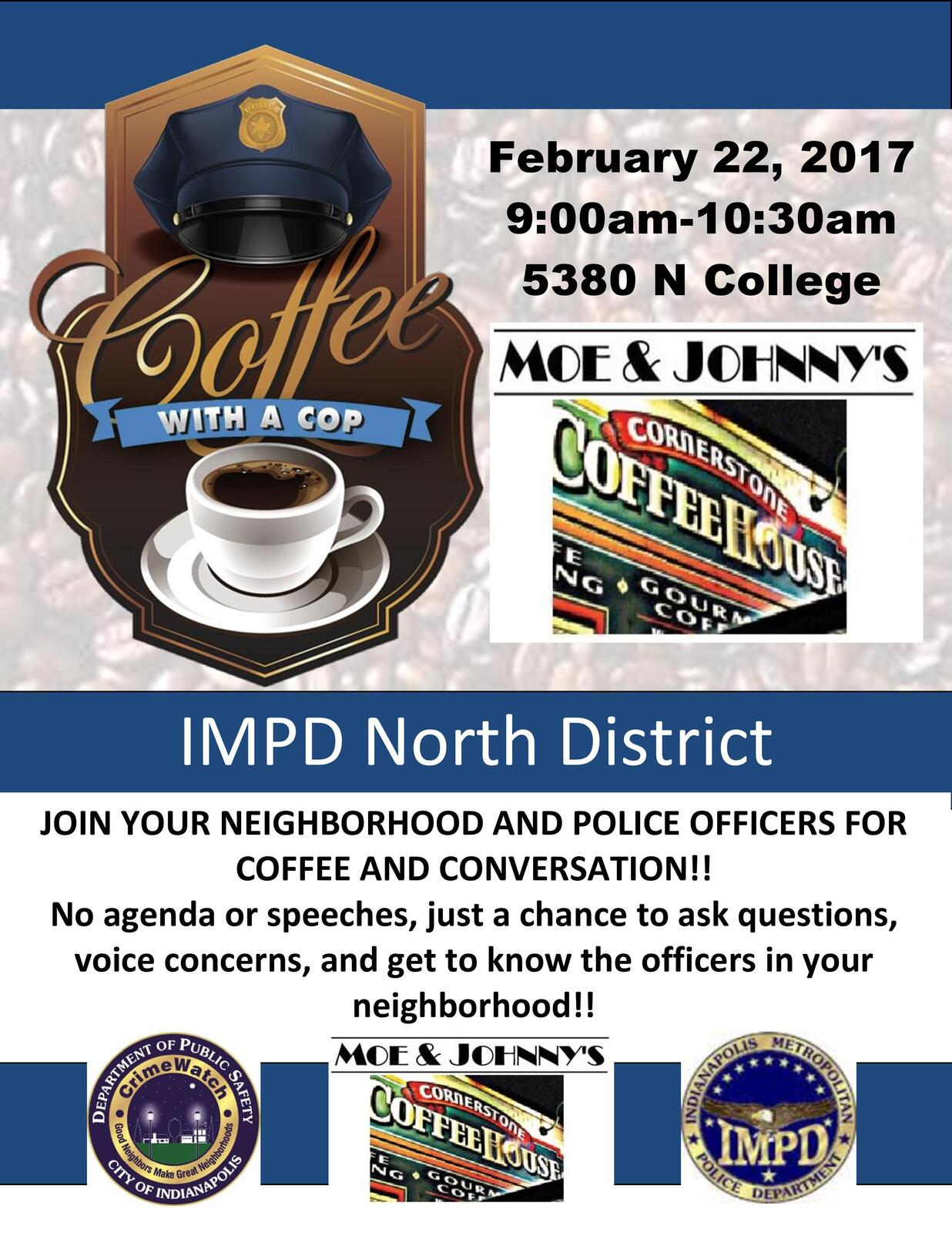 IMPD North District - Coffee With a Cop I (Indianapolis ...
